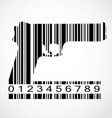 Barcode gun image vector illustration