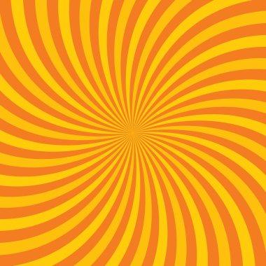 Orange hypnotic background. Vector illustration