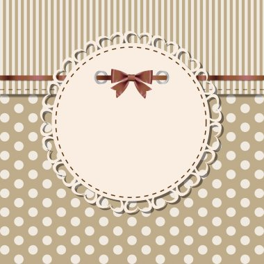 Vintage frame with bow vector illustration clip art vector