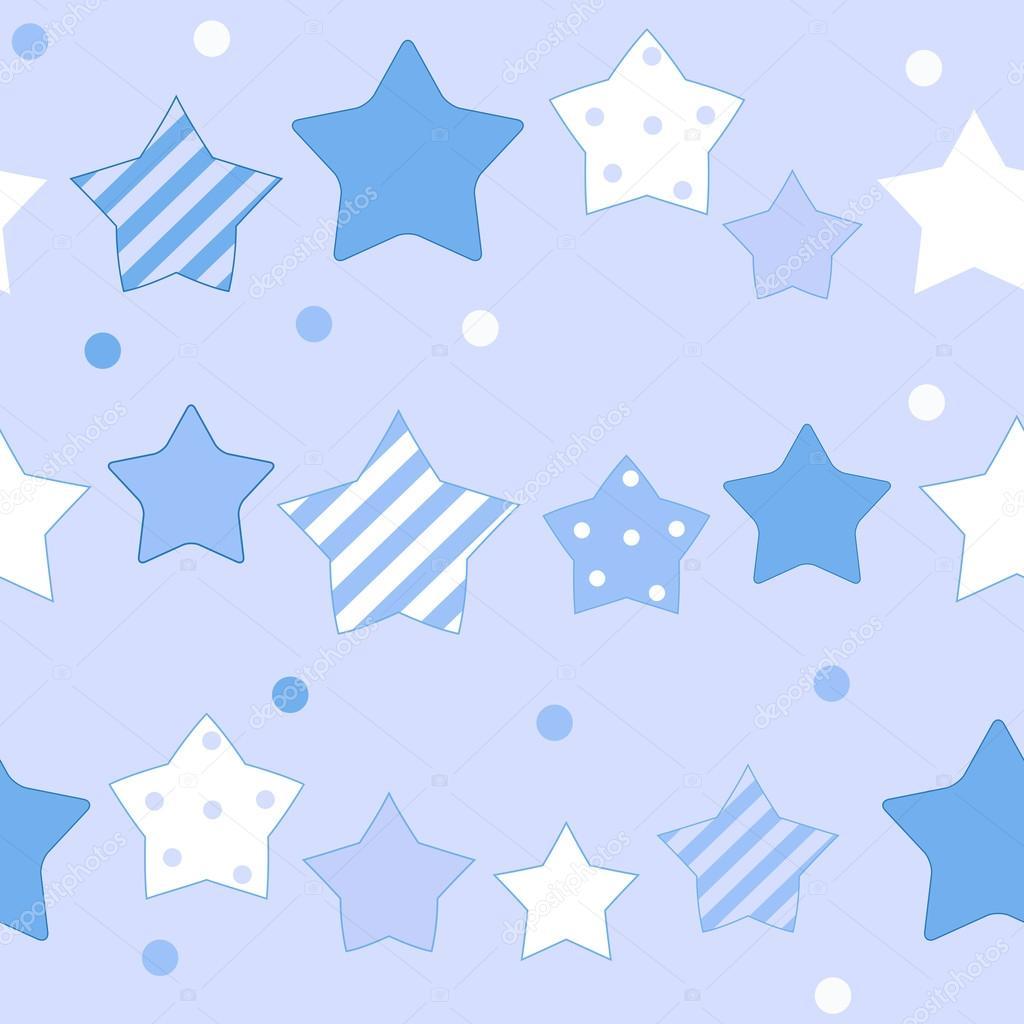 かわいい星のシームレスなパターン背景ベクトル イラスト — ストック