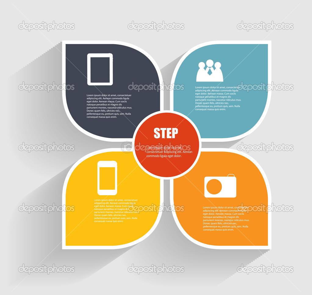 plantillas infográficas para la ilustración vectorial de negocios ...