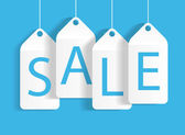 Prodej banner s místem pro váš text. vektorové ilustrace