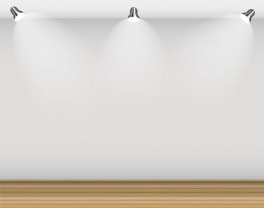 Empty Wall for Your Text and Images, Vector Illustration clip art vector