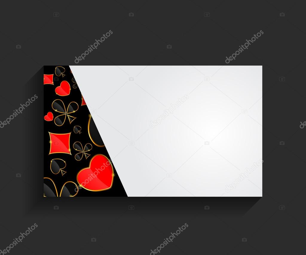 Template For Business Card Vector Illustration Stock Vector