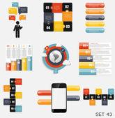 Kolekce infographic šablon pro podnikání