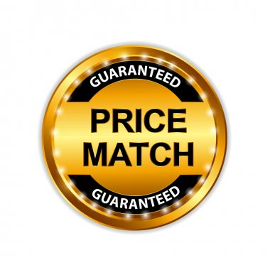 Lowest Price Guarantee Gold Label Sign Template