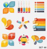 Kolekce infographic šablon pro obchodní vektorové ilustrace. eps10