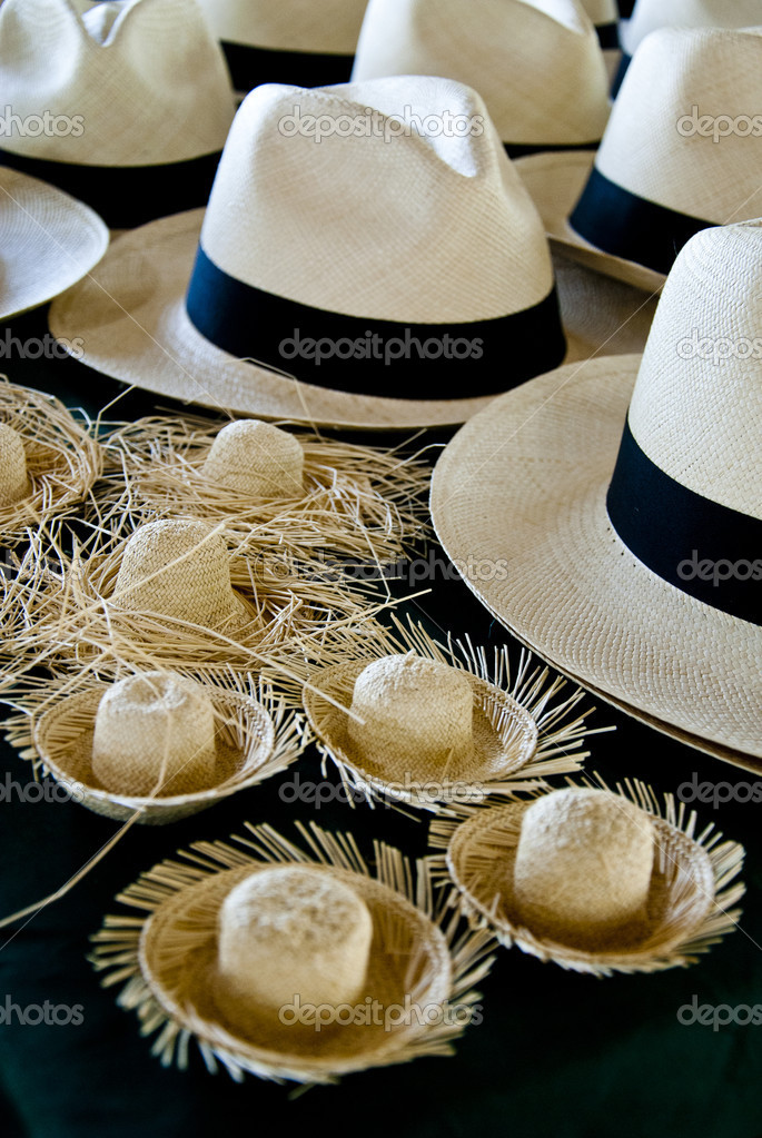 Accessorio di moda - cappelli in Sud america - cappelli panama e cappelli  di paglia in miniatura - cappelli ecuador — Foto di ... a7cf5e084213
