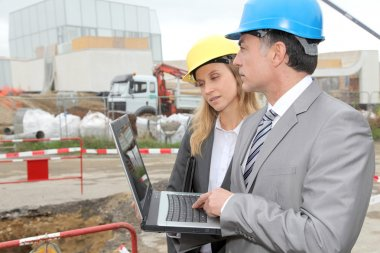 Business on construction site
