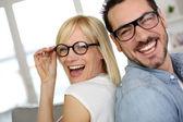 Fotografie vzorný manželský pár nošení brýlí