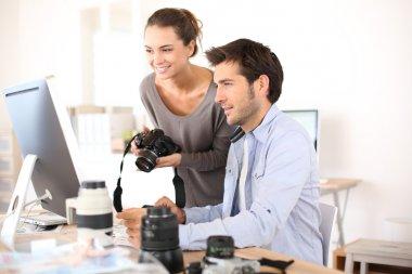 Photo reporters working
