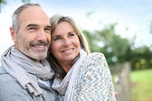 Fotografie Starší pár se těší klidné přírody