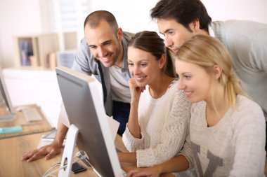 Students in business school