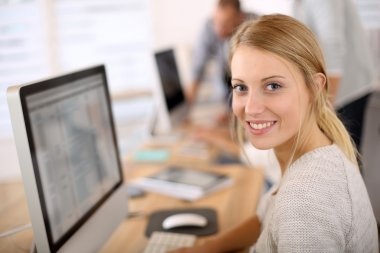 Office worker with computer