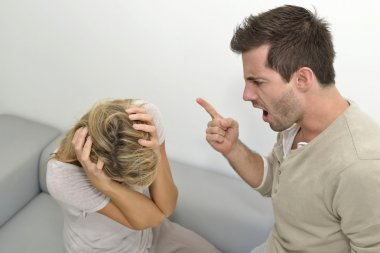Man being angry at woman