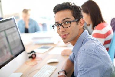 Man in business apprenticeship