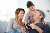 Fotografie Familie feiern Vatertag