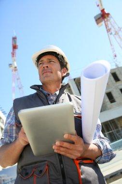 Entrepreneur with digital tablet