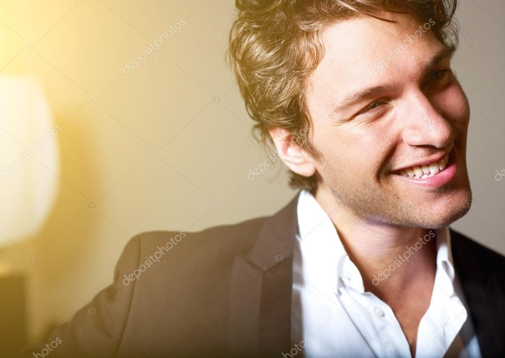 Portrait of an attractive young man
