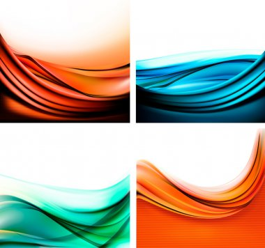Set of colorful elegant abstract backgrounds. Vector illustration.