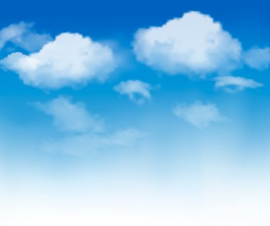 Blue sky with clouds. Vector background stock vector