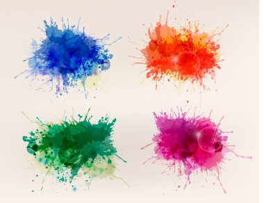 Collection of colorful abstract watercolor backgrounds