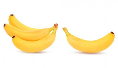 Fresh bananas isolated on white. Vector