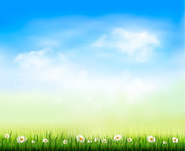 Nature background. Vector illustration