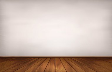 Wall and a wooden floor. Vector.