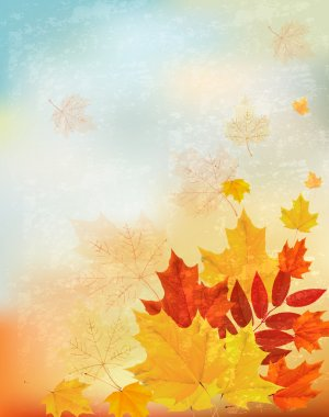 Abstract retro autumn background for your design. Vector