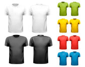 Photo Colorful male t-shirts. Design template. Vector.