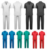 Sets of medical doctor clothes. Vector.