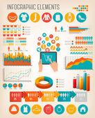 velký soubor nákupních infografiky prvků. vektor