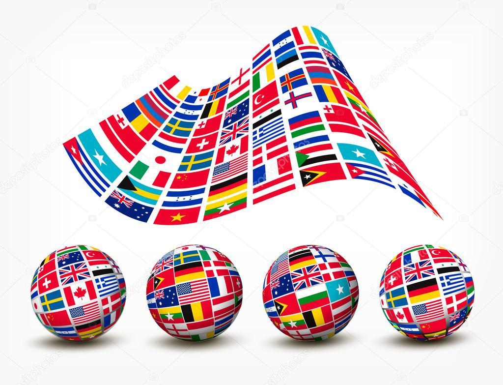 Открытки с флагами стран мира, днем рождения маши