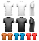 Fényképek színes férfi póló. tervezősablon. vektor