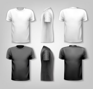 T-shirts with sample text space. Vector. stock vector