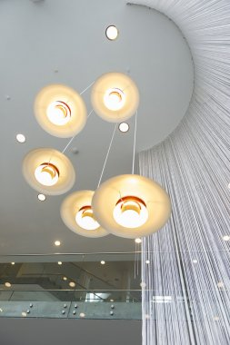 Modern overhead lighting fixture