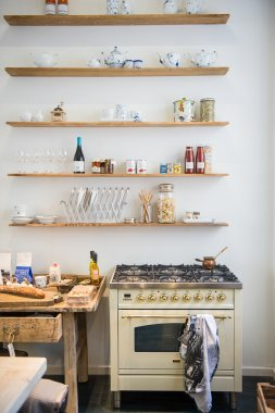 Small apartment kitchenette interior