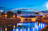 Photo Basarab bridge in the night, Bucharest, Romania