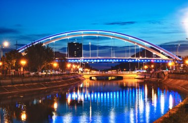 Basarab bridge in the night, Bucharest, Romania