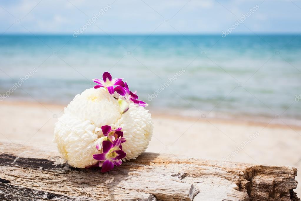 Bouquet on a beach