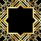 Art-Deco geometrisches Muster