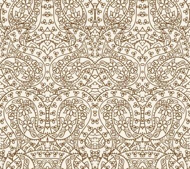 Seamless lace pattern, vector illustration clip art vector