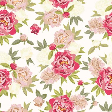 Vintage pattern with floral ornament