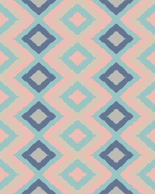 Rhombus pattern in retro colors