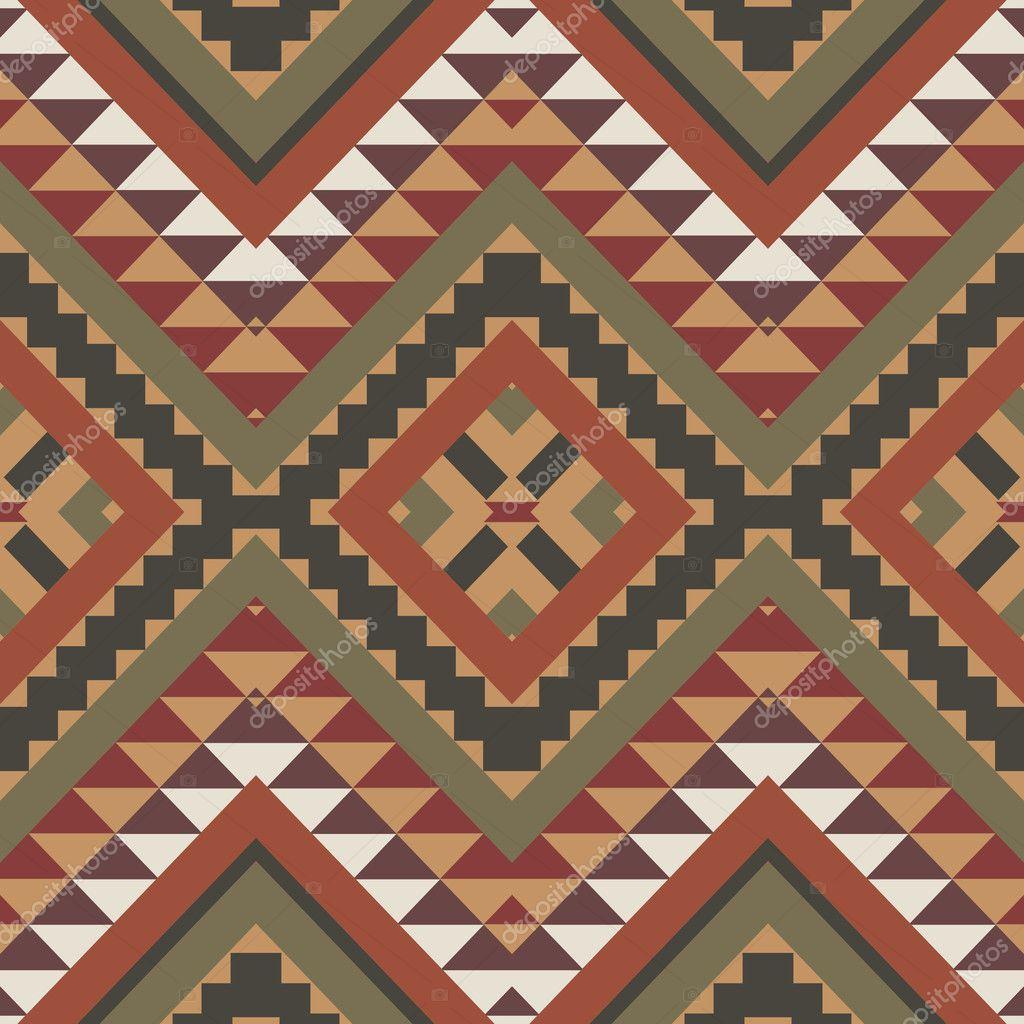 Imágenes Aztecas Un Color Patrón De Colores Azteca Vector De