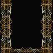 Fényképek Art deco geometric frame (1920s style)