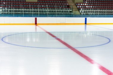 Central face off circle
