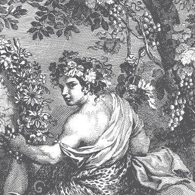 Antique Lady Engraving