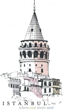 Galata Tower Drawing